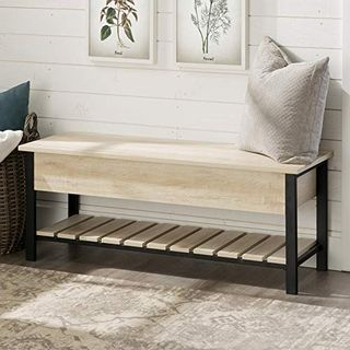 Rustic Modern Country Storage Bench