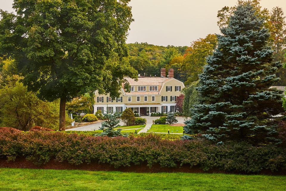 The exterior of The Mayflower Inn and Spa.