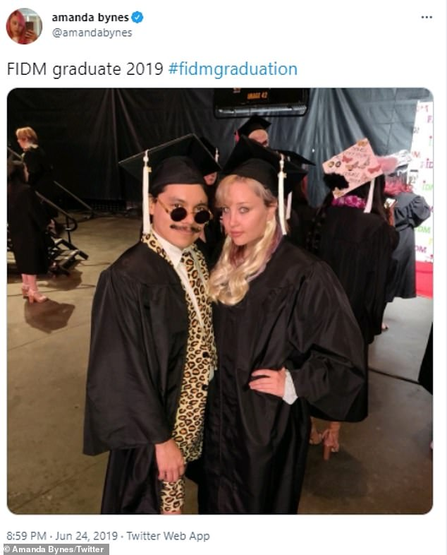 'She is now considering perfume in addition to a clothing line': The Westlake Village-based attorney also said Amanda is pursuing another degree at Fashion Institute of Design & Merchandising after earning her associate's degree there in 2019