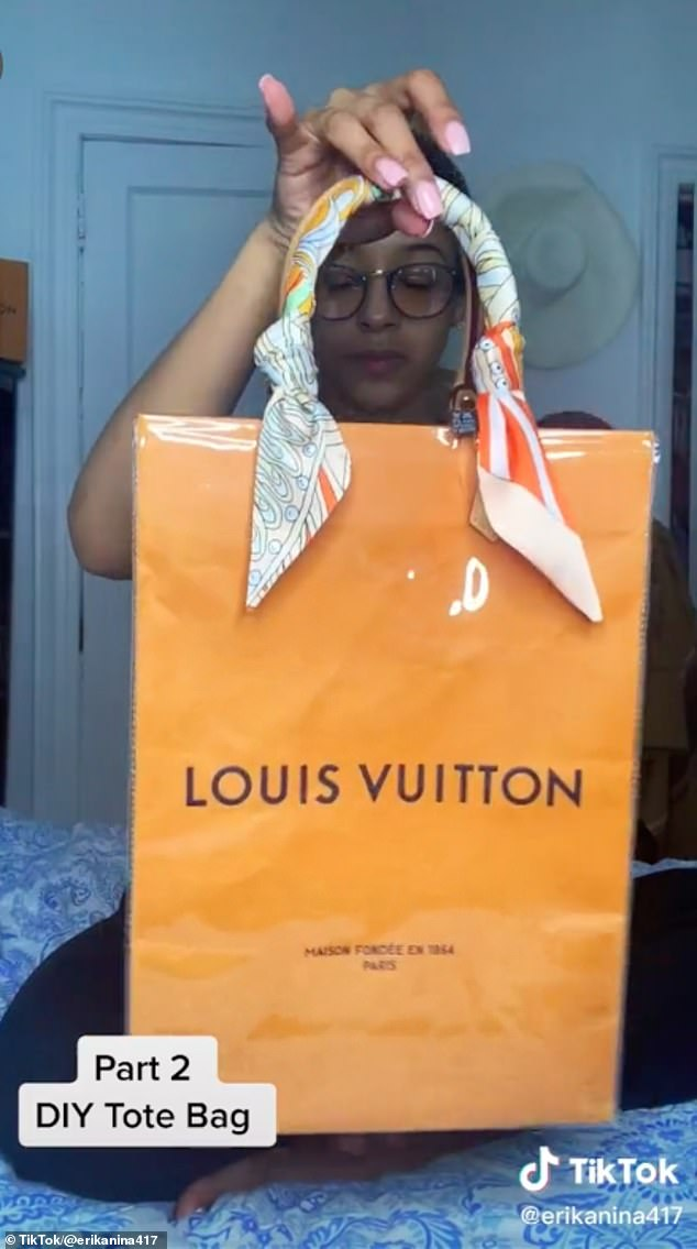 Tres chic! A handful of viral TikTok videos are breaking down how to make a Louis Vuitton bag at home for just $45