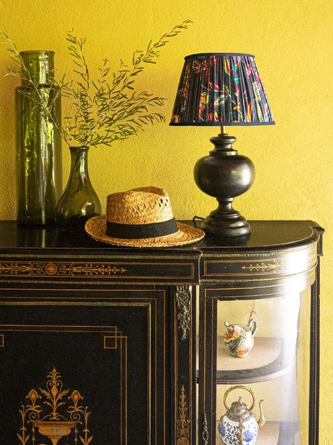 pooky 30cm straight empire shade in blue paisley by matthew williamson, £70, with venus table lamp, £76